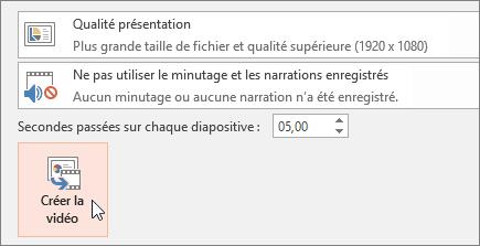 Exporter votre présentation en tant que vidéo