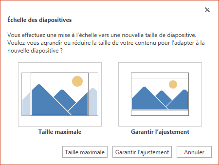 Modifier La Taille De Vos Diapositives Support Office