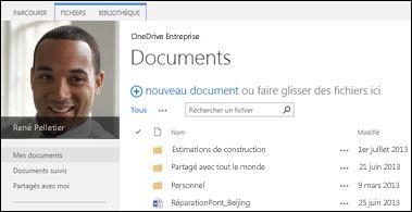 SharePoint2013 OneDrive Entreprise