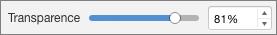 PowerPoint pour Mac - Curseur de transparence