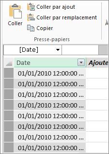 Table de dates dans Power Pivot