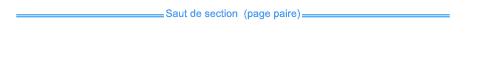 Saut de section sur une page vide