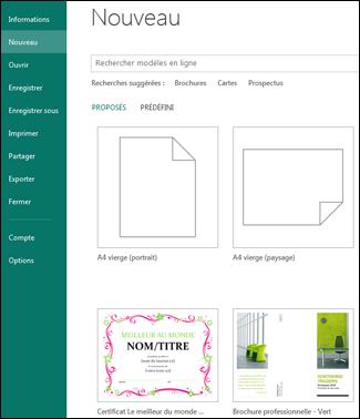 Affichage Fichier nouveau