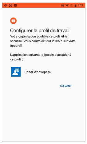 Configurer un profil professionnel