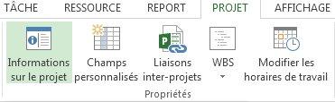 Image du bouton Informations sur le projet