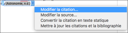 Modifier les citations
