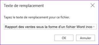 Ajouter un texte de remplacement aux fichiers incorporés dans OneNote Online