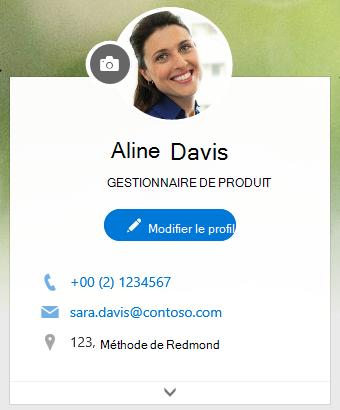 Cliquez sur Modifier le profil pour modifier vos informations