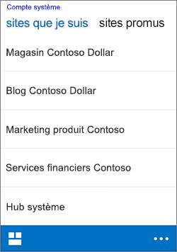iOS suivre des sites