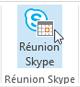 Bouton Réunion Skype