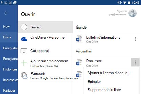 Capture d'écran de l'option de code confidentiel pour récents dans Android.