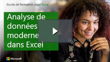 Femme souriant, guide d'apprentissage pour Excel