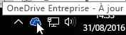Icône de barre des tâches de OneDrive Entreprise