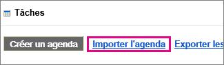 Tâches du Calendrier Google - importez le calendrier