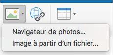 Options d'insertion d'image pour signature