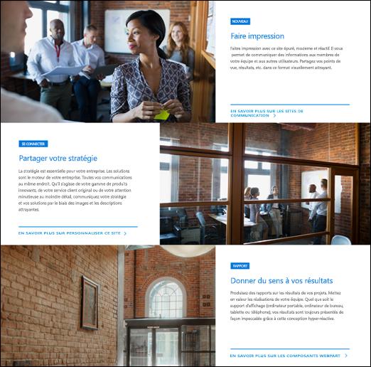 Composant WebPart SharePoint hero