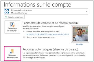 Envoyer des r ponses automatiques d absence du bureau partir d outlook pour windows outlook - Message d absence de bureau ...