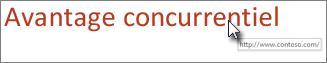 Supprimer le trait de soulignement du texte du lien hypertexte