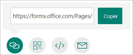 Copier un lien d'accès à votre formulaire