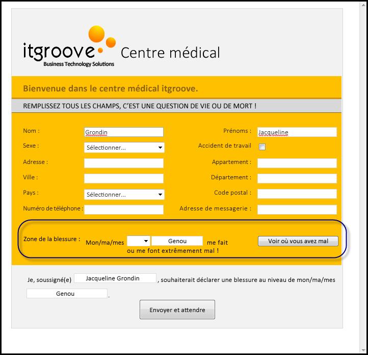 Centre médical IT Groove - Zone Blessés