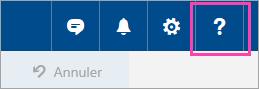 Capture d'écran du bouton de Menu aide