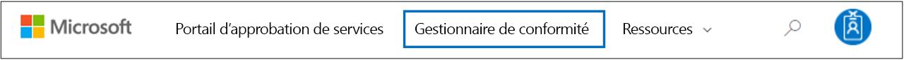 Gestionnaire de conformité - Accès au Gestionnaire de conformité à partir du menu STP