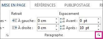 Comment obtenir toutes les options de paragraphe