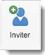 L'icône Inviter apparaît dans l'onglet Réunion Organisateur.