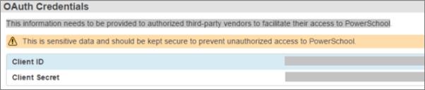 Choisissez la Configuration des données pour afficher les informations d'identification OAuth du plug-in