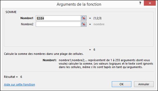 Assistant de fonction Excel