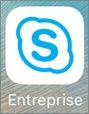 Icône de l'application Skype Entreprise pour iOS