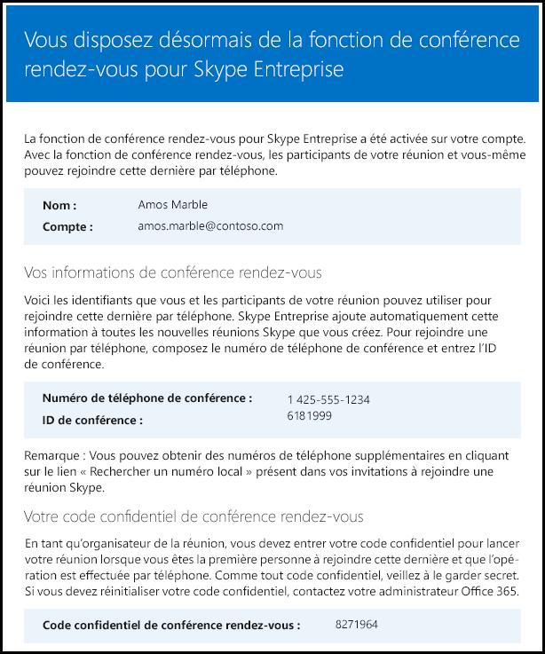 Licence de vérification Skype Entreprise