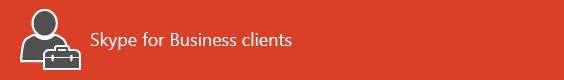 Page d'accueil des ressources du client SkypeEntreprise