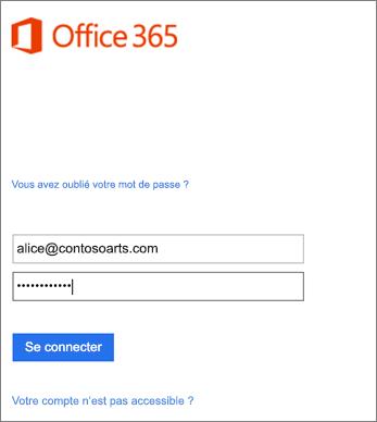 Connectez-vous à votre compte d'entreprise dans Outlook.
