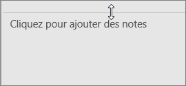 Ajustement du volet Notes dans PowerPoint