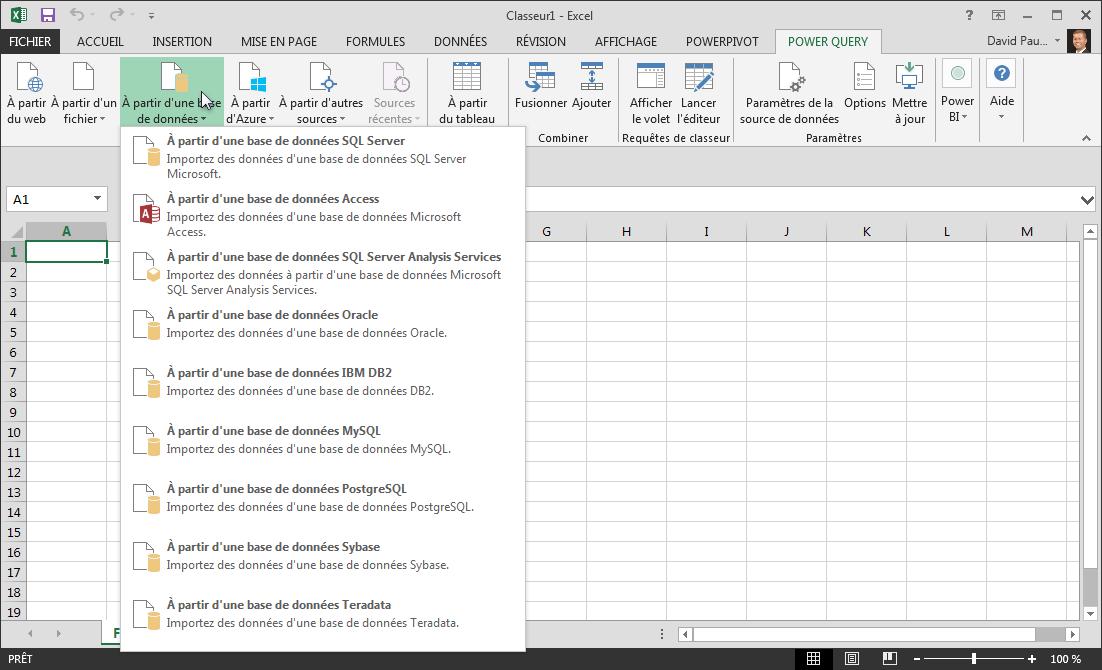 Obtenir des données externes à partir d'une base de données