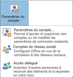 Capture d'écran de l'ajout d'un délégué dans Outlook