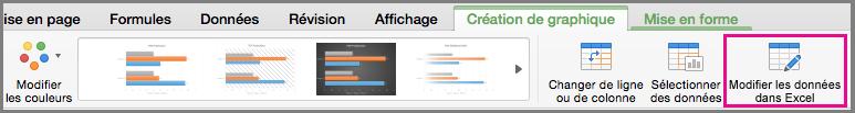 Modifier le graphique dans Excel dans Office pour Mac