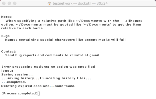 Exécutez l'outil Dockutil en appuyant sur Ctrl et en cliquant pour l'ouvrir.