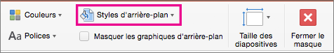 PowerPoint pour Mac - Style d'arrière-plan