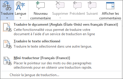 Traduire un document ou un message