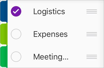 Sélectionnez la section que vous voulez déplacer vers un autre bloc-notes