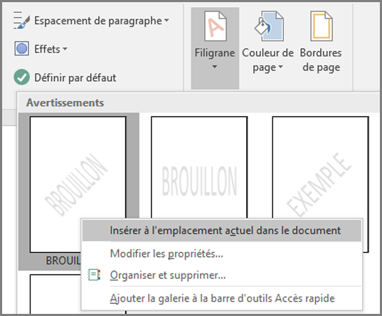 Ins rer un filigrane dans word word - Comment numeroter des pages sur open office ...