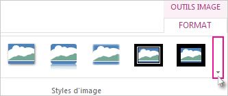 Cliquez sur le bouton «Autres» pour afficher d'autres styles de bordures.