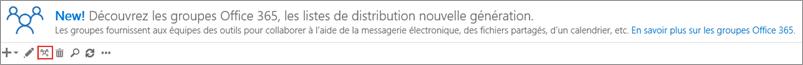 Cliquez ou appuyez sur la mise à niveau vers l'icône de groupes Office 365