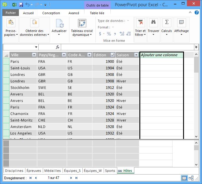 Utiliser Ajouter une colonne pour créer un champ calculé en utilisant DAX