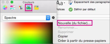 Cliquez sur l'icône Image pour sélectionner une couleur à partir d'un fichier