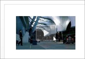 Vidéo en ligne ajoutée à un document Word