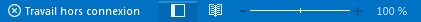 Indicateur Travail hors connexion dans la barre d'état Outlook