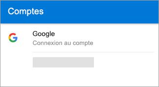 Outlook pour Android peut rechercher automatiquement votre compte Gmail.